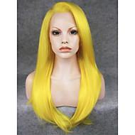"""imstyle 24 """"黄色の合成絹のようなストレートレースフロントウィッグ-N2"""