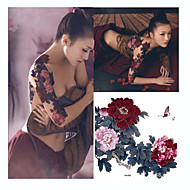 1 Dövme Etiketleri Çiçek Serisi Temalı / Büyük Boyutlu / WaterproofYetişkin flaş Dövme geçici Dövme