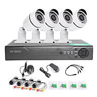 twvision 8-kanals hdmi 960h cctv dvr videoovervågning optager 4stk 1000tvl udendørs kameraer CCTV-system