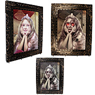 1PC Halloween Party Decor Gift Novelty Acoustic Emitting Terrorist Color Girl Large Magic Photo Frame