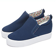Women's Loafers & Slip-Ons Spring Summer Fall Winter Other Canvas Outdoor Casual Athletic Wedge Heel Others Black Blue White