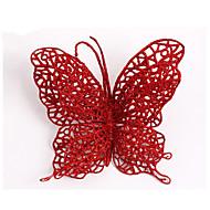 クリスマスオーナメントクリスマスオーナメントクリスマスツリーの装飾蝶の供給を流し15センチメートルクリスマス蝶