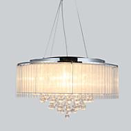40 מנורות תלויות ,  מודרני / חדיש Drum כרום מאפיין for קריסטל מתכת חדר שינה חדר אוכל