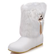 Boty-Koženka-Sněhule Módní boty-Dámské-Černá Růžová Bílá-Kancelář Běžné Party-Nízký podpatek
