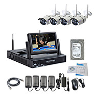 Strongshine® Wireless IP Camera with 720P/Infrared/Waterproof and NVR with 7Inch LCD /1TB Surveillance HDD Kits