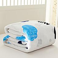 Coral Fleece Bílá,Barvená příze Vzor gingham 70% akryl / 30% bavlna přikrývky S:150*200cm