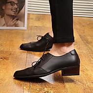 גברים-נעלי אוקספורד-עור-פלטפורמה-שחור-קז'ואל-עקב עבה