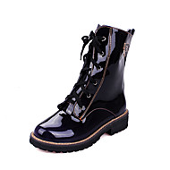 Women's Boots Fall / Winter Others Dress / Casual Chunky Heel Lace-up Blue / Brown / Purple Others