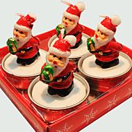 Weihnachtskerze nette Weihnachtsmann 4 Stück