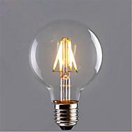 4,5 E26/E27 Lâmpadas de Filamento de LED G80 4 SMD 5730 280 lm Branco Quente / Amarelo Decorativa V 1 pç