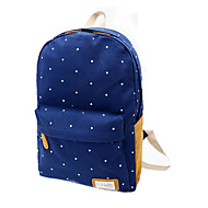 Casual Outdoor Backpack Women Canvas Blue Green Red Black