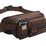 Men Canvas Casual Waist Bag
