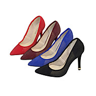 Women's Heels Spring / Fall T-Strap Fabric Wedding / Party & Evening / Dress Stiletto Heel Others Black / Blue / Red