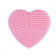 1 buc Geantă Perii & Curățătoare Silicon Heart Shape