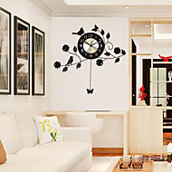 Moderno/Contemporâneo Casas Relógio de parede,Outros Alúminio / Metal 60*58cm Interior Relógio