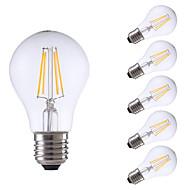 6W E26/E27 Izzószálas LED lámpák A60(A19) 4 COB 806 lm Meleg fehér Állítható AC 220-240 V 6 db.