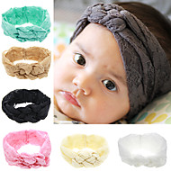 New Baby Headband Baby Turban Lace Flower HeadbandKnitting Cross Knot Headband Head Wrap