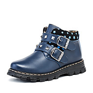 Boty-Kůže-Platformy-Chlapecké-Černá Modrá Hnědá-Běžné-Platformy
