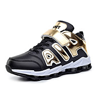 Boy's Athletic Shoes Spring Summer Fall Winter Comfort PU Casual Flat Heel Lace-up Black Blue