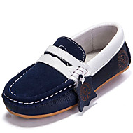 Girl's Loafers & Slip-Ons Spring / Summer / Fall / Winter Comfort Suede Outdoor / Athletic / Casual Flat Heel Blue / Yellow Sneaker