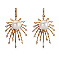 Earring Imitation Pearl / AAA Cubic Zirconia Drop Earrings Jewelry Women Party / Daily Gold Plated 1 pair Gold