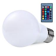 RGB 10W E27 הובילו מנורה נורת הגלובוס 16 צבע changering עם נורות RGB בשלט רחוק 24key (ac85-265v)