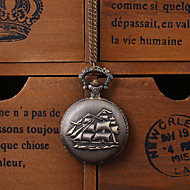 Sailing Boat Alloy Analog Quartz Pocket Watch (Bronze) Cool Watch Unique Watch Fashion Watch