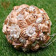 Bryllupsblomster Rund Roser Buketter Fest & Aften Sateng 7.48 tommer (ca. 19cm)