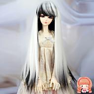 1/3 1/4 BJD sd dz MSD dukke paryk tilbehør lange lige sort og hvid farve hår parykker ikke for voksent menneske