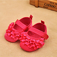 Bez podpatku-Bavlna-Pohodlné První botičky-Dívčí-Bílá Červená Růžová-Běžné-Plochá podrážka