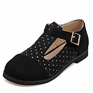 Women's Flats Spring Summer Fall Leatherette Outdoor Office & Career Casual Flat Heel Crystal Black Brown Yellow Red Other