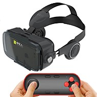 Black Integrated Earphone Virtual Reality Headset for 4.7-6.2 Inch Smartphone with Bluetooth Remote Gamepad