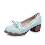 Damen-Loafers & Slip-Ons-Hochzeit Büro Kleid Lässig Party & Festivität-Kunststoff Leinwand Lackleder Kunstleder-Blockabsatz Plateau-