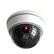 כיפת דמה מזויפת מצלמת אבטחה טלוויזיה במעגל סגור אלחוטית לבן kingneo 1pc עם אדום מהבהב הוביל אור עבור הקניון לבית או למשרד