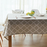 Square Patterned / Gingham Table Cloth , Linen / Cotton Blend Material Hotel Dining Table / Table Decoration