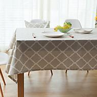 Obdélníkový Se vzorem / Vzor gingham Ubrusy , Směs lnu a bavlny Materiál Hotel Jídelní stůl / Tabulka Dceoration