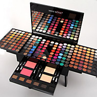Miss Rose 180 Colors Eyeshadow Palette Matte Nude Shimmer Eye Shadow Set with Brush Mirror 6 Eyebrow
