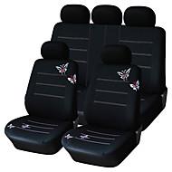 9 db-os szett autó üléshuzatok egyetemes fit fekete pillangó tervezés anyag poliészter autós kiegészítők