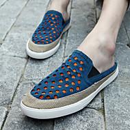 Men's Loafers & Slip-Ons Summer Comfort Leather Casual Blue Green Orange