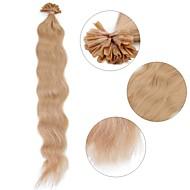 neitsi 20 '' 50g / lot ondulado onda pré u ligado ponta do prego extensões de cabelo humano
