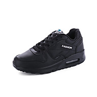 Women's Athletic Shoes Spring Summer Fall Winter Comfort Leather Office & Career Casual Athletic Black Pink Red White