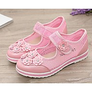 Flats Summer Mary Jane Light Up Shoes Tulle Dress Casual Flat Heel Applique Blue Pink Walking