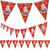 5pcs natal pennant projeto do natal loja de shopping decoração de Papai bandeira 8 rosto de santa