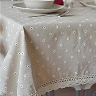 Rectangulaire Fleur Nappes de table , Mélange Lin/Coton MatérielHôtel Dining Table / Wedding Banquet / Décorations de Noël Favor /