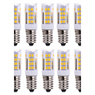 10Pcs Kabelkoblet Others E14 51Led Smd2835 5w  850Lm AC220   White Warm Natural White Small Ceramic Corn Lamp Other