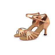 Sapatos de Dança(Marrom) -Feminino-Não Personalizável-Latina