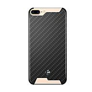 のために 耐衝撃 ケース バックカバー ケース 幾何学模様 ハード カーボンファイバー のために Apple iPhone 7プラス / iPhone 7 / iPhone 6s Plus/6 Plus / iPhone 6s/6