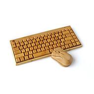 draadloos toetsenbord bamboe bamboe houten bamboe draadloze muis toetsenbord