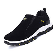 Running Shoes Men's Sneakers Spring Fall Platform Suede Outdoor Casual Flat Heel Black Yellow Gray