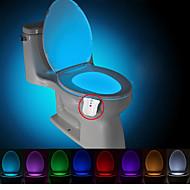 brelong vízálló, fényérzékeny, led8 színes emberi indukciós színváltozás WC lámpa lámpa dc4.5v)